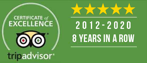 Viva Blackpool Trip Advisor Certification of Excellece 5 years in a row.