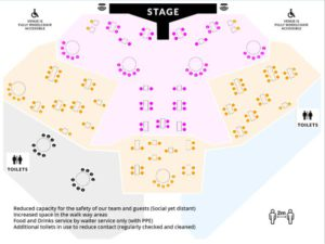 Socially Distanced Seating Plan